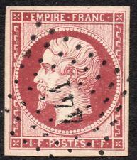 1853 NAPOLEON EMPIRE N° 18 CARMIN OB. PC 441 BORDEAUX   TTB   COTE > 3250 €