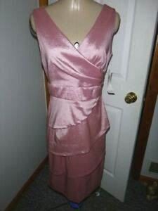 LONDON TIMES Size 6 Wedgewood Rose Tiered Sheath Dress NWT $128
