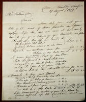 Letter to Rev. William Dows of Dumfries from John McBracken. Dated 27th Aug 1853