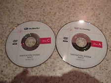 SUBARU SET OF 2 SATELLITE SAT NAV NAVIGATION DVD ROM DISC EUROPE 2010 FREE POST