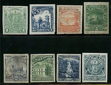 El Salvador 1896 Issue - Rare - Plate Proofs (8) Different Bt4498