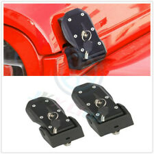 2x Hood Lock Latches Buckle Pins Catch With Key Kit o For Jeep Wrangler JL 2018