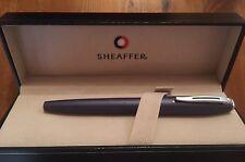 S12: Sheaffer White Dot Füllfederhalter Fountain Pen blau/blue + Etui