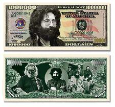 Jerry Garcia Grateful Dead Million Dollar Funny Money Novelty Note + FREE SLEEVE