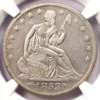 1853-O Arrows & Rays Seated Liberty Half Dollar 50C - Certified NGC VF Details!