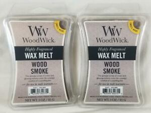 Woodwick Candle Scented Wax Melt Cubes: WOOD SMOKE 3 oz Lot of 2