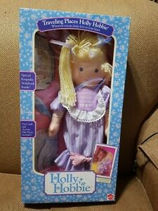 """Vintage Mattel Holly Hobbie Traveling Places  16""""  Doll 1989 New in box"""