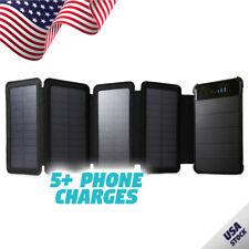 Folding 4 Panel 10,000mAh Portable Solar Power Bank