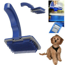 Pet Dog Cat Grooming Self Cleaning Slicker Brush Comb Shedding Tool Hair Fur