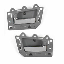 For 05-11 JEEP GRAND CHEROKEE DS293 INSIDE DOOR HANDLE REAR PAIR GRAY & CHROME