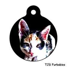 Calico Kitten Cat Custom Personalized Pet Id Tag for Dog & Cat Collars & Harness