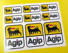 AGIP style Motorbike Motorcycle HELMET Decals Stickers Fairing Toolbox Forks