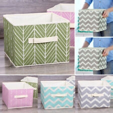 Square Foldable Storage Box Clothes Organizer Collapsible Fabric Bag Basket Home