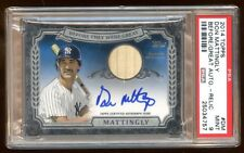 PSA 9 DON MATTINGLY 2014 TOPPS AUTO BAT #D 2/5 ON CARD AUTOGRAPH BEFORE WERE GRT