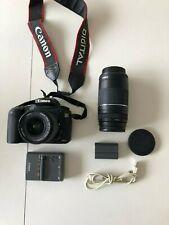 Canon EOS 20D 8.2MP Digital SLR Camera & TWO Lenses w/ EF EF 75-300&18-55mm Lens