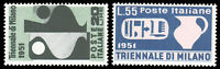 Italy #582-583 MNH CV$52.50 1951 TRIENNIAL ART EXPO ex Perfectum