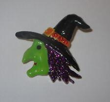 Bruja pin cabeza gorro CRISTAL DETALLES MORADO Cabello Halloween NUEVO