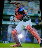 """Ivan """"Pudge"""" Rodriguez Texas Rangers SIGNED 8x10 Photo (Beckett COA)"""