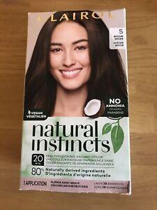 (1) Clairol Natural Instincts Semi-Permanent Hair Color #5 Hazelnut Medium Brown