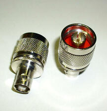 2 Stück BNC-Adapter, BNC-Buchse/ N-Stecker (M3670-2)