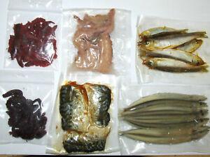 PRESERVED SEA BAIT SQUID WHITE BAIT RAGWORM BLACK LUG SANDEEL MACKEREL SEA FISH