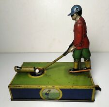 "Vintage Windup American Golf Tin Litho ""Jocko"" The Golfer Toy"