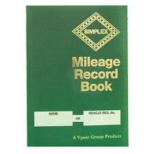 Simplex Vehicle & Mileage Record Log Book MRB