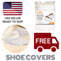 HDX One Size Fits Most, White Disposable Shoe Covers / Booties (12-pairs) 04614