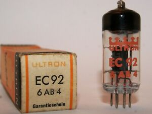EC92 / 6AB4 Ultron New in Original Box Vacuum Tube, Valvola, Röhre, Valvula