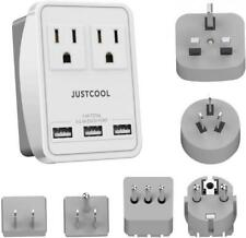 World Travel Adapter Kit, Justcool Universal Power Plug With White