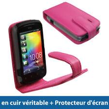 Étuis, housses et coques avec clip roses en cuir pour téléphone mobile et assistant personnel (PDA)