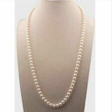 14k gold  24inch 5-6mm south sea round white pearl necklace