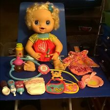"Large 16"" Talking Baby Alive Doll with Hair and 16-piece Accessories/Clothes"