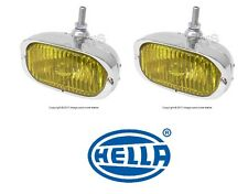 Porsche 356A 356C 911 912 Pair Set of 2 Fog Lights H3 with Yellow Lens Hella