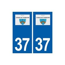37 Civray-de-Touraine logo autocollant plaque stickers ville immatriculation dro
