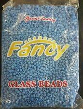 FANCY GLASS BEADS LIGHT BLUE/CUENTAS DE CRISTAL ELEKES COLLARES,SANTERIA 1 LB