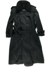 Charles Klein Long Forstmann Wool Coat Trench Coat Lined Heavyweight Women's 4P