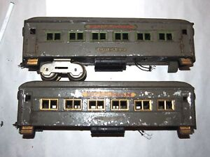 Dorfan Prewar Wide or Standard Gauge Passenger Cars! Gray! Restore or Parts!PA