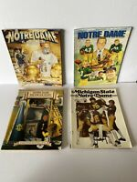 Vintage Notre Dame Michigan State Football Programs Lot Of (7)