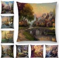 18''  Country Sofa Decor Throw Pillow Case Cotton Linen Cushion Cover