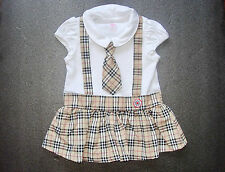 Unbranded Checked Clothing (0-24 Months) for Girls