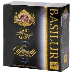 Basilur Ceylon Earl Gray Tea 100 Tea Bags