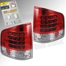 CHEVY S10 GMC SONOMA OE RED CLEAR LED TAIL LIGHTS +WHITE LED LICENSE PLATE BULBS