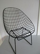 Seltener Midcentury Wire Chair-CEES BRAAKMAN für PASTOE-String Stool