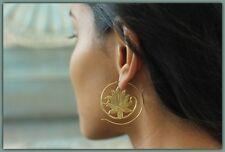 Spiral Dangle Brass Hook Tribal Earring Gold Gypsy Women Fashion Jewelry Vintage