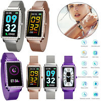 Frauen Bluetooth Smart Watch Pulsuhr Armband für iPhone XS MAX X 8 Samsung LG G7