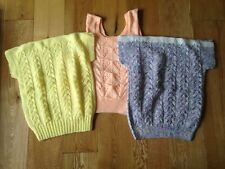 BRAND NEW LADIES HAND KNITTED 3 TOPS SIZE 12