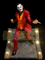 2019 Joker Joaquin Phoenix Authur Fleck Resin Figure Statue LED Light Toy