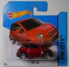 HW City HOT WHEELS Fiat 500 #25/250 Short Card