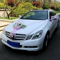 12 pièces décorations de voiture de mariage Kit boucles de ruban de soie